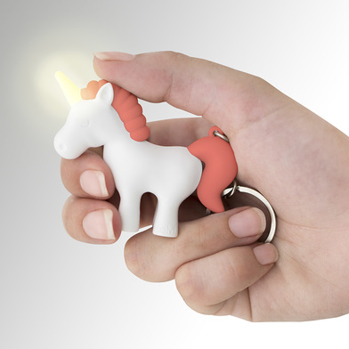 Balvi key ring Unicorn Pink colour Key ring with light in the shape of a unicorn ABS plastic/metal
