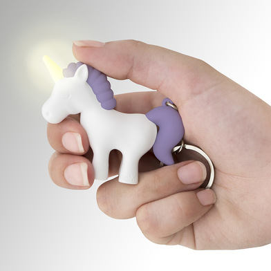 Balvi key ring Unicorn Blue colour Key ring with light in the shape of a unicorn ABS plastic/metal