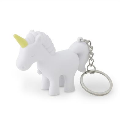 Balvi llavero Unicorn Color Blanco Llavero con luz en forma de unicornio Plástico ABS/metal
