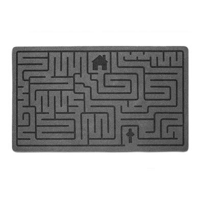 alvi Felpudo Labyrinth Color gris Alfombra con dibujo de laberinto Poliéster/plástico PVC 41 x 70 cm