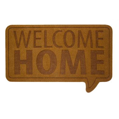 alvi Felpudo Welcome Home Color marrón Alfombra con mensaje de bienvenida Poliéster/plástico PVC 41