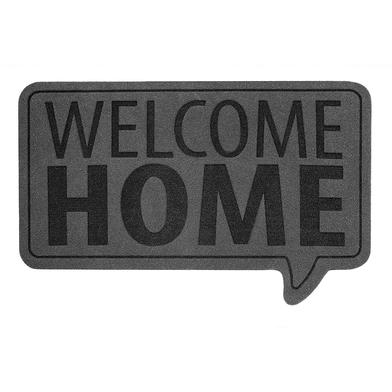 alvi Felpudo Welcome Home Color gris Alfombra con mensaje de bienvenida Poliéster/plástico PVC 41 x