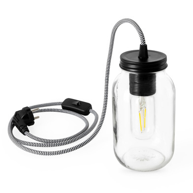 Balvi Lámpara de mesa Light Jar Incluye kit para colgar en pared Cristal 18,5 cm
