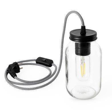 Balvi Lámpara de mesa Light Jar Incluye kit para colgar en pared Cristal 18,5 cm