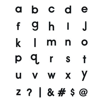 Balvi Letras magnéticas Magnet Message Color negro Estuche con 120 piezas EVA