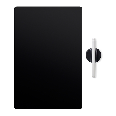 Balvi Tableau frigo Noir Couleur noir Magnétique Avec un stylo et une gomme Plastique pp 42 x 30 cm