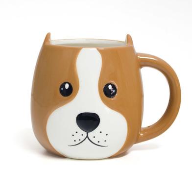 alvi Mug Woof! En forme de coupe de la tête de chien capacité 400ml Lave-vaisselle et micro-ondes Cé