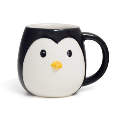 alvi Mug Pingo pingouin en forme de coupe la tête capacité 400ml Lave-vaisselle et micro-ondes Céram