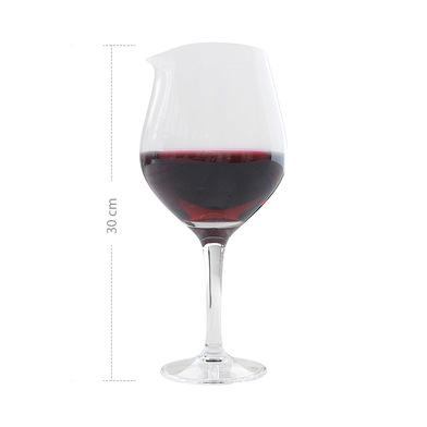 alvi Decantador vino XL Color transparente Decantador de vino original en forma de copa de vino Para