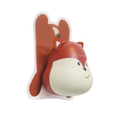alvi Soporte cepillo dental Fox Color marrón Incluye soporte pared adhesivo Plástico ABS/plástico PV