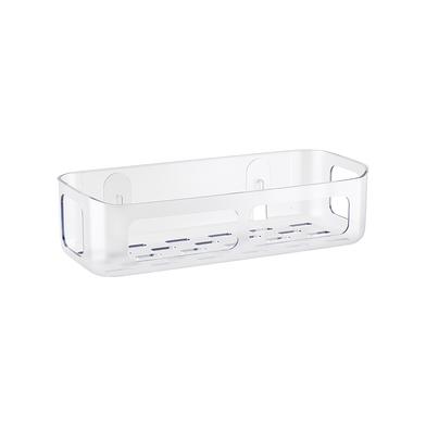 alvi Etagère Basics Adhésive Finition transparente Idéal pour la salle de bain ou la cuisine Plastiq