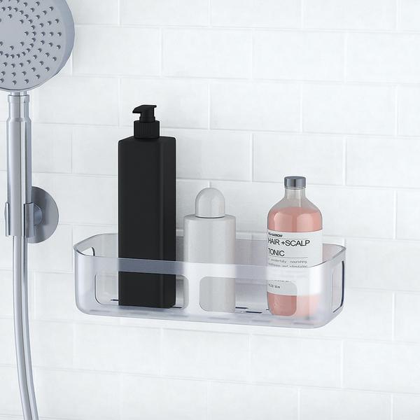 alvi Estante Basics Adhesivo Acabado transparente Ideal para baños y cocinas Plástico ABS/plástico P