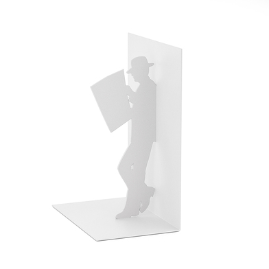 Balvi Bookend The Reader White colour Decorative Metal