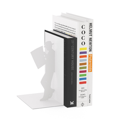 Balvi Sujeta libros The Reader Color blanco Decorativo Metal