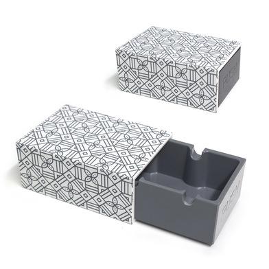 Balvi Cenicero Geometry Con estampado geométrico Con tapa Melamina/plástico ABS