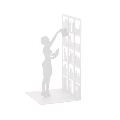 Balvi Sujeta libros The Library Color blanco Decorativo Metal