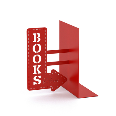 Balvi Bookend Bookshop Red colour Decorative Metal