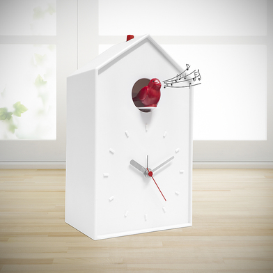 alvi Alarm clock Cucu White colour Table clock or wall mounted Batteries: 1xAA + 2xC (not included)