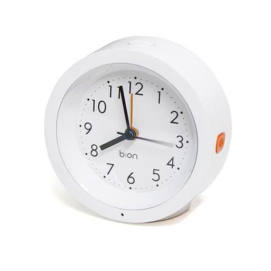alvi Despertador Firefly Color blanco Con sensor de luz Alarma Funciona con 2 pilas AA (no incluidas
