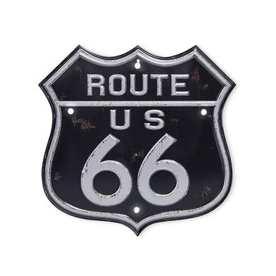 alvi Rótulo decorativo Route 66 Luz LED de larga duración Función táctil Adhesivo Plástico PVC 17,5c
