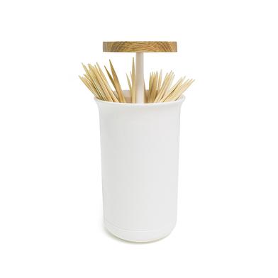 Balvi Palillero Push & Up Color blanco Dispensador de palillos  Madera/plástico