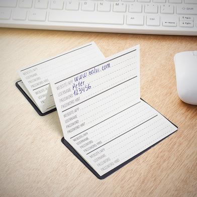 Balvi Libreta para contraseñas Acces Denied Color negro Plástico PVC/papel