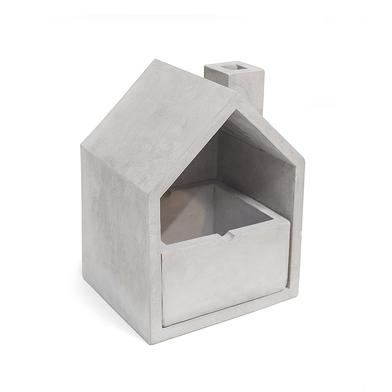 Balvi Cenicero Home Color gris Con cajón extraible Cemento