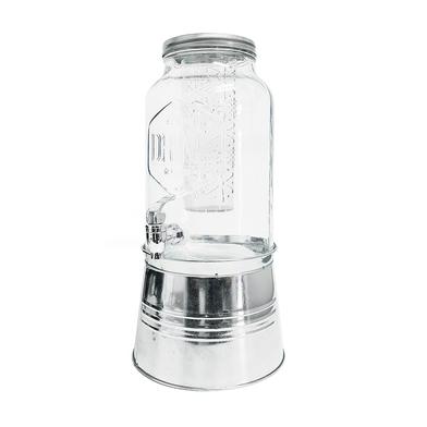 alvi Distribueur de boissons Drink Couleur transparent Avec infuseur et support en métal Capacité: 5