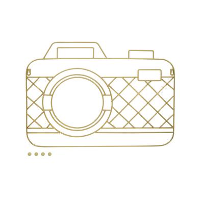 Balvi Porta foto Memory Cam Color dorado Magnético con 5 imanes incluidos Para pared Metal 59x42cm