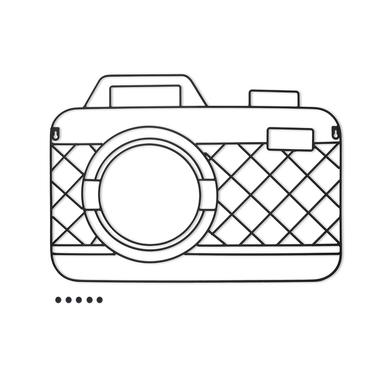 Balvi Porta foto Memory Cam Color negro Magnético con 5 imanes incluidos Para pared Metal 59x42cm