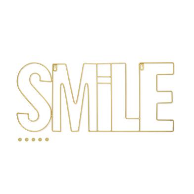 Balvi Porta foto Smile Color dorado Magnético con 5 imanes incluidos Para pared Metal 59x26cm