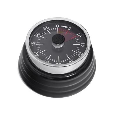 alvi Minuteur Bumpy Couleur noir Mécanique et magnétique Compte jusqu'à 60 minutes L'alarme sonne lo