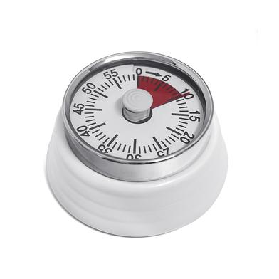 alvi Minuteur Bumpy Couleur blanc Mécanique et magnétique Compte jusqu'à 60 minutes L'alarme sonne l
