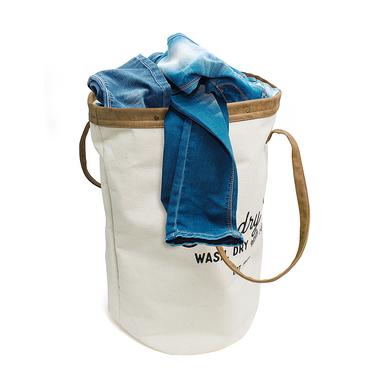 Balvi Cesto ropa Vintage Color beige 35 lts Con asas Tela 50 cm
