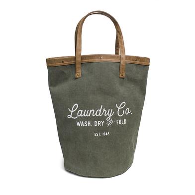 Balvi Cesto ropa Vintage Color verde 35Lts Con asas Tela 50 cm