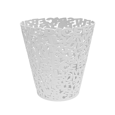 Balvi Papelera Letters Color blanco Plástico 30cm