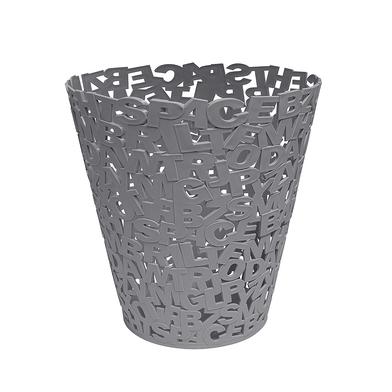 Balvi Papelera Letters Color gris Plástico 30cm