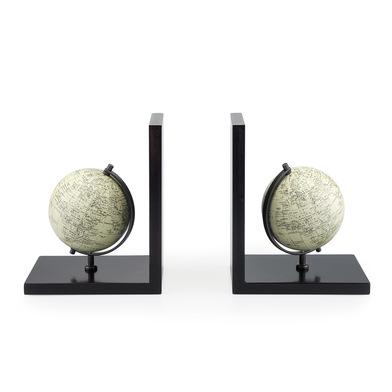 Balvi Sujeta libros Mappamondo Con globo terráqueo Conjunto de 2 piezas Madera