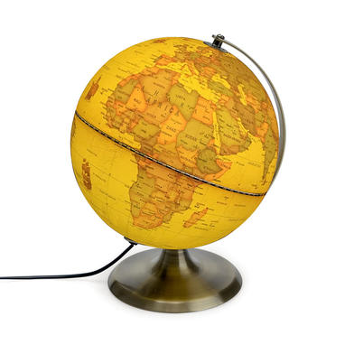Balvi Globo terráqueo con luz Antique Globe Giratorio Metal 23cm