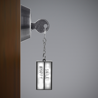 alvi Key ring Lightbox Black colour With light Adhesive letters to write your message Batteries: 1xC