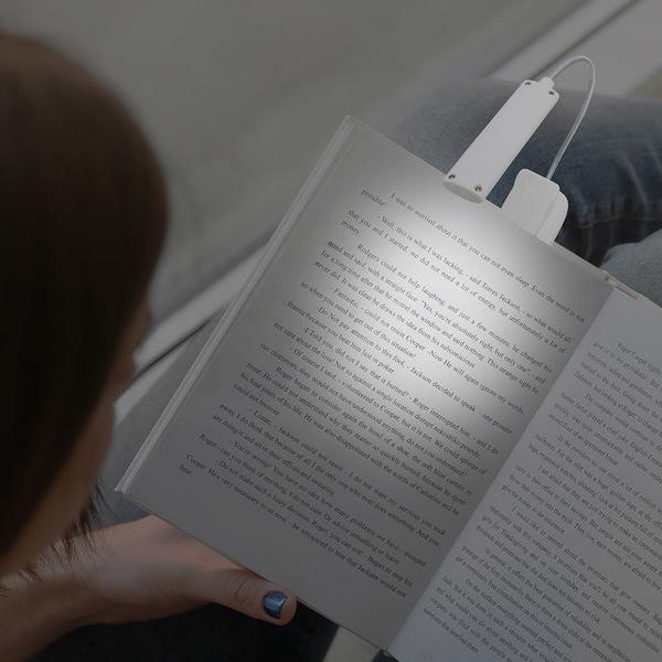 alvi Luz lectura Booky Color blanco Con pinza Cable USB incluido Pilas: 3xAAA (no incl) Plástico ABS