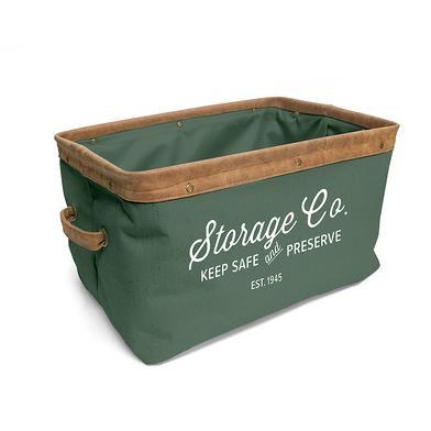 Balvi Cesta Vintage Color verde 24Lts Con asas Tela 40 cm
