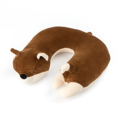 Balvi Cojín de viaje Fox Color marrón Con forma de zorro incluye colgador Poliéster