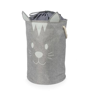 alvi Cesto ropa Meow! Color gris Gran capacidad Forma de cara de gato Con asa para transportar 70L P