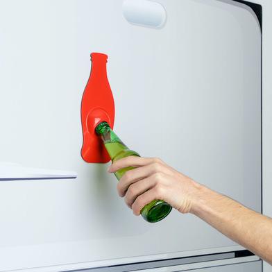 Balvi Abrebotellas Soda Color rojo Magnético En forma de botella Acero inox 21 cm