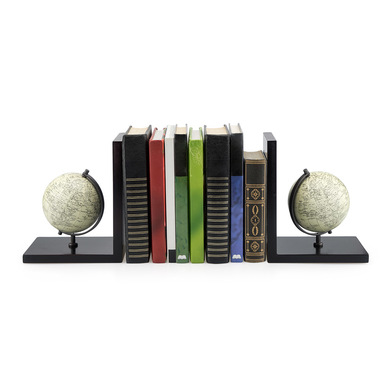 Balvi Bookend Mappamondo With globe 2 pieces set Wood