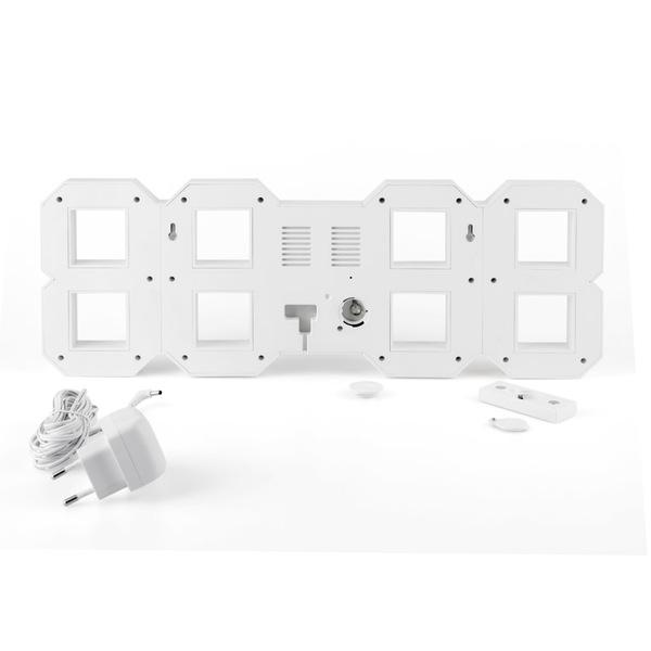 Balvi Sveglia Digital (L) Colore bianco Con telecomando Da parete Plastica ABS 45cm