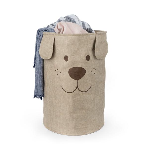 alvi Cesto ropa Woof! Color marrón Gran capacidad Forma de cara de perro Con asa para transportar Po