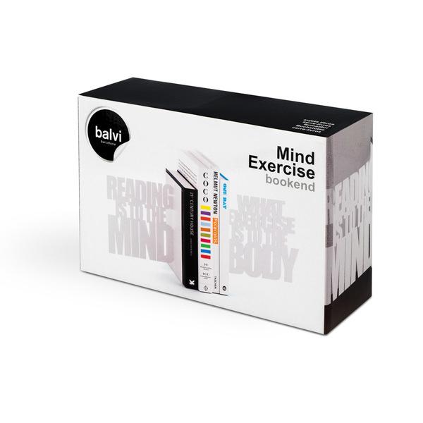 Balvi Bookend Mind Exercise White colour 2 bookends