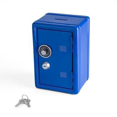 alvi Hucha Money Bank Color azul Caja de seguridad con doble cerradura combinación y llave Guarda mo